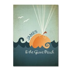 'James and th Giant Peach' Canvas Art