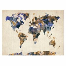 'Watercolor Map 3' by Michael Tompsett Graphic Art on Canvas