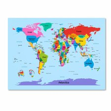 <strong>Trademark Fine Art</strong> 'Childrens World Map' Canvas Art