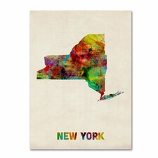 <strong>Trademark Fine Art</strong> 'New York Map' Canvas Art