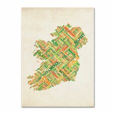 'Ireland I' by Michael Tompsett Graphic Art on Canvas
