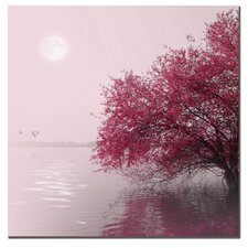 <strong>Trademark Fine Art</strong> 'Full Moon on the Lake' Canvas Art