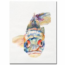 <strong>Trademark Fine Art</strong> 'Blue Fish' Canvas Art