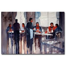 <strong>Trademark Fine Art</strong> 'Business Lunch' Canvas Art