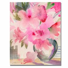 <strong>Trademark Fine Art</strong> 'Pink Azaleas' Canvas Art