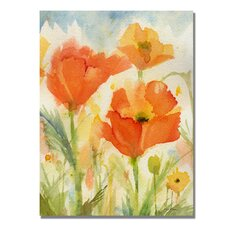 <strong>Trademark Fine Art</strong> 'Field of Poppies' Canvas Art