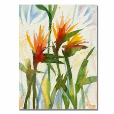 'Birds of Paradise' by Sheila Golden Painting Print on Canvas