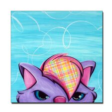 'Kitty Gallery Wrapped' Canvas Art