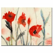 <strong>Trademark Fine Art</strong> 'Poppies' Canvas Art