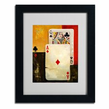 "<strong>Trademark Fine Art</strong> ""Poker Queen"" Framed Art"