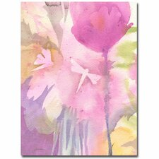<strong>Trademark Fine Art</strong> 'Dragonflies with Pink' Canvas Art