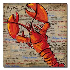 <strong>Trademark Fine Art</strong> 'Lobster' Canvas Art