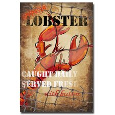<strong>Trademark Fine Art</strong> 'Lobster Box' Canvas Art