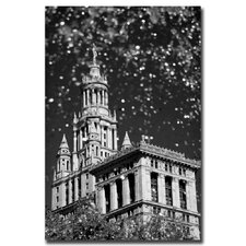 <strong>Trademark Fine Art</strong> 'Waterfall over City Hall' Canvas Art