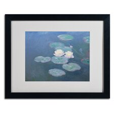 """Waterlilies Evening"" by Claude Monet Framed Painting Print"
