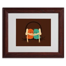 "<strong>Trademark Fine Art</strong> ""Baby It's Cold Outside"" Framed Art"