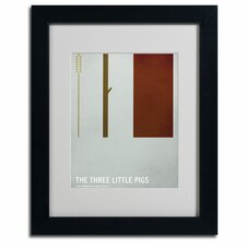 "<strong>Trademark Fine Art</strong> ""The Three Little Pigs"" Framed Art"
