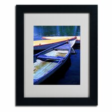 "<strong>Trademark Fine Art</strong> ""Bois de Boulogne Boats"" Framed Art"