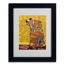 """""""Fulfillment"""" by Gustav Klimt Framed Painting Print"""