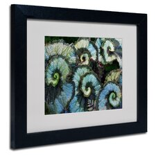 "<strong>Trademark Fine Art</strong> ""Escargot Begonia"" Framed Art"