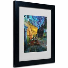 """Cafe Terrace"" by Vincent van Gogh Framed Painting Print"