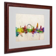 """London Skyline"" Matted Framed Art"