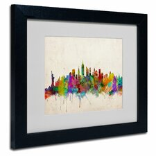 """New York Skyline"" Matted Framed Art"