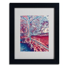 "<strong>Trademark Fine Art</strong> ""Red Blue I"" Framed Art"