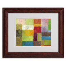 "<strong>Trademark Fine Art</strong> ""Abstract Color Panels 4"" Framed Art"
