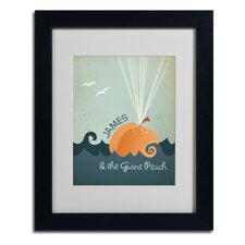 "<strong>Trademark Fine Art</strong> ""James and the Giant Peach"" Framed Art"