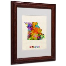 "<strong>Trademark Fine Art</strong> ""Missouri Map"" Matted Framed Art"