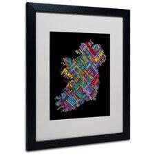 """Ireland V"" by Michael Tompsett Framed Textual Art"