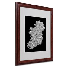 """Ireland VIII"" Matted Framed Art"