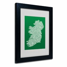 """Ireland IX"" Matted Framed Art"