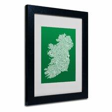 """Ireland IX"" by Michael Tompsett Framed Textual Art"