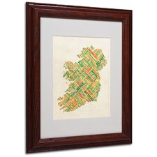 """Ireland I"" by Michael Tompsett Framed Textual Art"