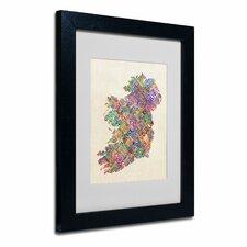 """Ireland II"" by Michael Tompsett Framed Textual Art"