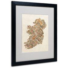 """Ireland III"" by Michael Tompsett Framed Textual Art"