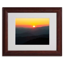 "<strong>Trademark Fine Art</strong> ""Great Smoky Mountains Sunset"" Matted Framed Art"