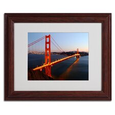"<strong>Trademark Fine Art</strong> ""Golden Gate SF"" Matted Framed Art"