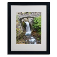 "<strong>Trademark Fine Art</strong> ""Christine Falls Rainier"" Matted Framed Art"