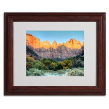 "<strong>Trademark Fine Art</strong> ""Zion Sunrise"" Matted Framed Art"