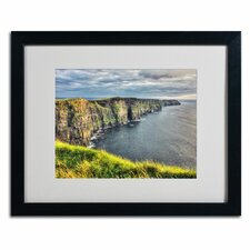 "<strong>Trademark Fine Art</strong> ""Cliffs of Moher Ireland"" Matted Framed Art"