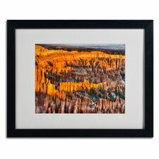 "<strong>Trademark Fine Art</strong> ""Bryce Canyon Sunrise"" Matted Framed Art"