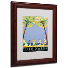 "<strong>Trademark Fine Art</strong> ""Cote D'Azur"" Framed Matted Art"
