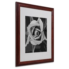 "<strong>Trademark Fine Art</strong> ""Black and White Rose"" Matted Framed Art"