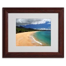 "<strong>Trademark Fine Art</strong> ""Makena Maui"" Matted Framed Art"