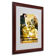 "<strong>Trademark Fine Art</strong> ""Keep Mum She's not So Dumb"" Framed Matted Art"