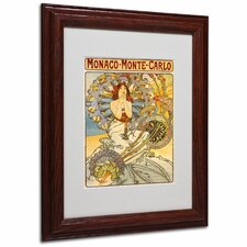 "<strong>Trademark Fine Art</strong> ""Monaco-Monte Carlo"" Matted Framed Art"