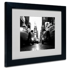 "<strong>Trademark Fine Art</strong> ""Broadway Taxis"" Matted Framed Art"